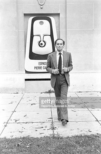 'Italianborn French fashion designer Pierre Cardin in front of the Espace Pierre Cardin Paris 1973 '