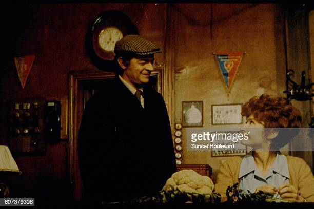 Italianborn French singer and actor Serge Reggiani and French actress Dany Carrel on the set of Trois milliards sans ascenseur written and directed...