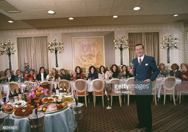 Italianborn restaurateur Sirio Maccioni with clients at Le Cirque his establishment in New York April 1981 Among the diners are socialites Kathryn...