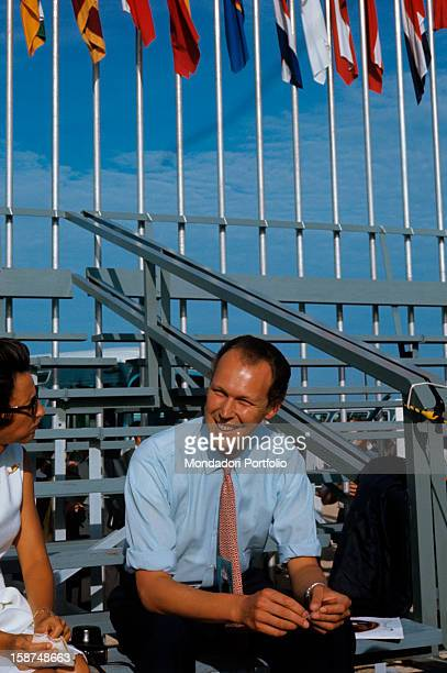 Italianborn Swiss member of the House of Savoy and entrepreneur Vittorio Emanuele di Savoia smiling Cape Canaveral 16th July 1969