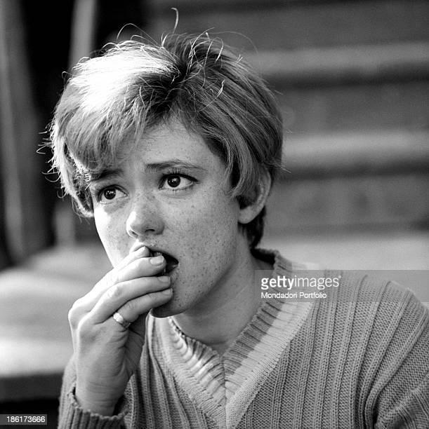 Italianborn Swiss singer and actress Rita Pavone eating 1968