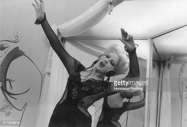 Italianborn Swiss singer and TV presenter Mina screaming in the film For Love For Magic 1966