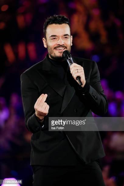 ItalianGerman singer Giovanni Zarrella performs during the television show Schlagerchampions Das grosse Fest der Besten at Velodrom on January 11...