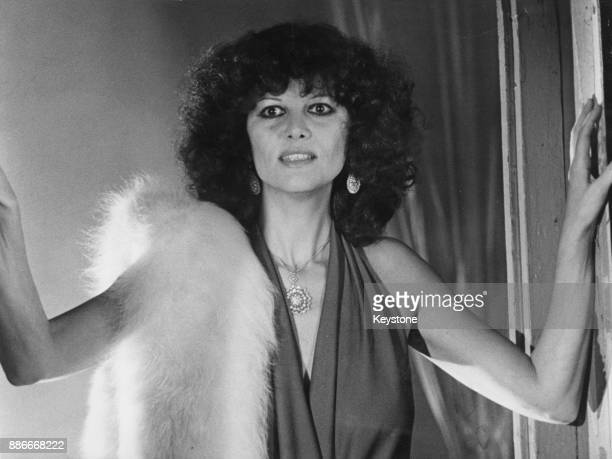 Italian-Tunisian actress Claudia Cardinale appears on the French television show 'Numéro Un' on TF1, France, 20th December 1977.
