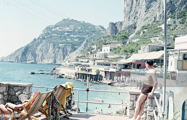 Italien ca 1958 Badebucht Capri