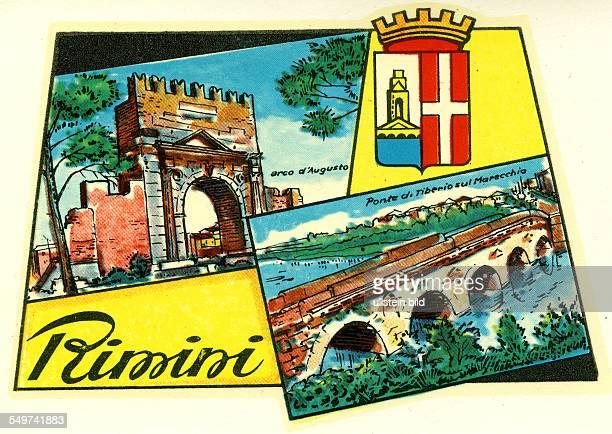 Italien Rimini Italienischer Badeort am Mittelmeer