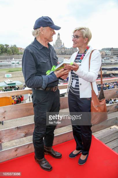 ItalienUS actor Terence Hill during the premiere of 'Mein Name ist Somebody Zwei Faeuste kehren zurueck' during the movie nights on August 20 2018 in...