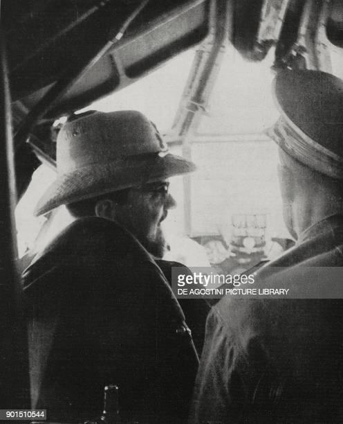 Italo Balbo at the controls of his airplane in June 1940 Libya from L'Illustrazione Italiana Year LXX No 27 July 4 1943