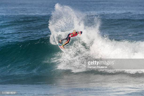 Italo Ferreira of Brasil advances directly to Round 3 of the 2019 Quiksilver Pro France after winning Heat 2 of Round 1 at Le Culs Nus on October 3...
