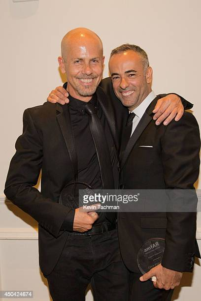Italo Zucchelli and Francisco Costa attend the amfAR Inspiration Gala New York 2014 at The Plaza Hotel on June 10 2014 in New York City
