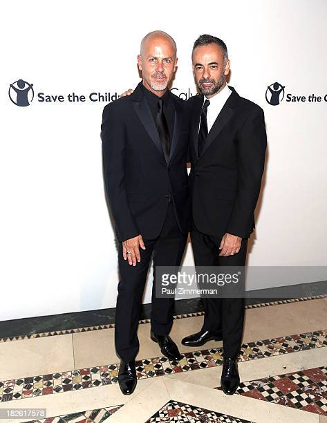 Italo Zucchelli and Francisco Costa attend the Calvin Klein Inc 2013 Save The Children Benefit at Cipriani 42nd Street on October 1 2013 in New York...