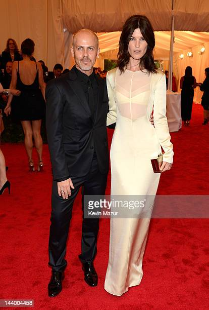 Italo Zucchelli and Hanneli Mustaparta attend the Schiaparelli And Prada Impossible Conversations Costume Institute Gala at the Metropolitan Museum...