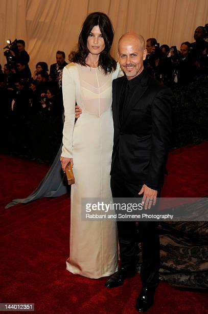 Italo Zucchelli and Hanneli Mustaparta attends the Schiaparelli And Prada Impossible Conversations Costume Institute Gala at the Metropolitan Museum...