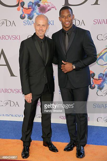 Italo Zucchelli and Victor Cruz attend at Alice Tully Hall, Lincoln Center on June 2, 2014 in New York City.