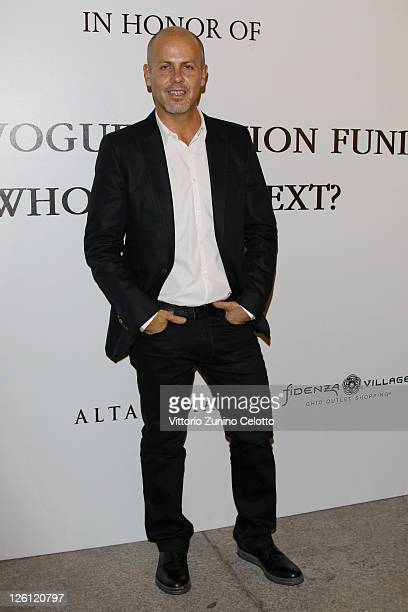 Italo Zucchelli attends The Vogue Fashion Fund Who Is On Next? party dring Milan Fashion Week Womenswear Spring/Summer 2012 at Palazzo Morando on...