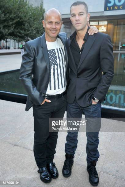 Italo Zuchelli and Josh Reed attend HEARST MAGAZINE hosts the kickoff of fashion week at Lincoln Center at Hearst Plaza at Lincoln Center on...
