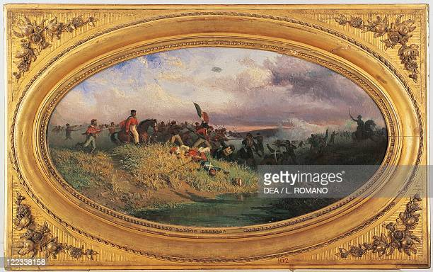 Italy - 19th century, Expedition of the Thousand - Giuseppe Garibaldi at the battle of Volturno, 1 October 1860. Painted by Francesco Giovanni...