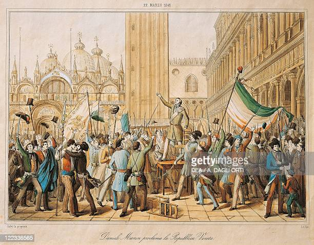 Italy 19th century First War of Independence Daniele Manin proclaiming the Republic of Venice March 22 1848