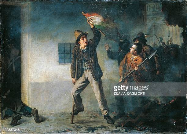Italy 19th century First War of Independence Pasquale Sottocorno during the assault on the Palazzo del Genio during the Five Days of Milan 21 March...