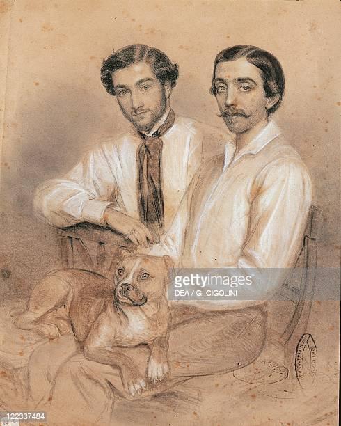 Italy - 19th century - The Attilio and Emilio Bandiera Brothers. Pastel.