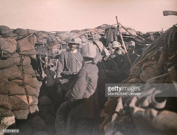 Italy 20th century First World War Soldiers in a trench