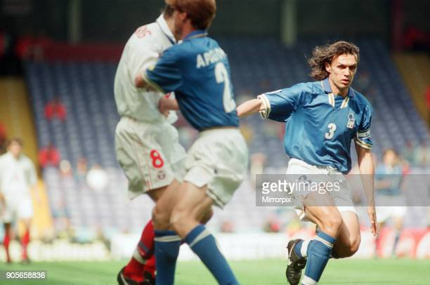 Italy 21 Russia Euro 1996 Group C match at Anfield Liverpool Tuesday 11th June 1996 Paolo Maldini