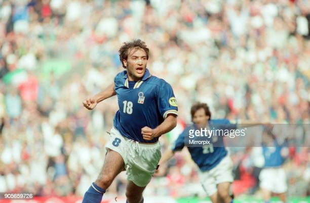 Italy 21 Russia Euro 1996 Group C match at Anfield Liverpool Tuesday 11th June 1996 Pierluigi Casiraghi
