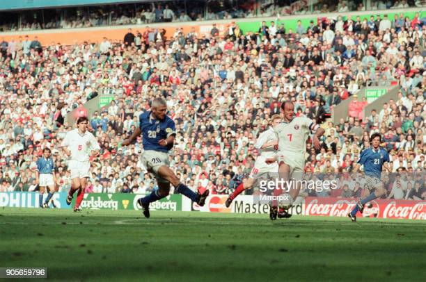 Italy 21 Russia Euro 1996 Group C match at Anfield Liverpool Tuesday 11th June 1996 Fabrizio Ravanelli