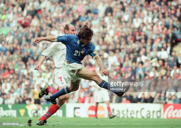 Italy 21 Russia Euro 1996 Group C match at Anfield Liverpool Tuesday 11th June 1996 Gianfranco Zola