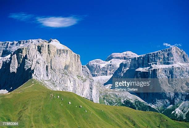 italy, alto adige, dolomites, mountain landscape - dolomiti foto e immagini stock