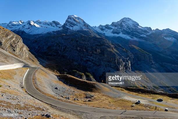 Italy, Alto Adige, Stelvio Pass mountain road