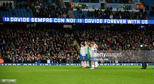 Italy and Argentina observe a minutes silence in memory of Davide Astori prior to the International friendly match between Italy and Argentina at...
