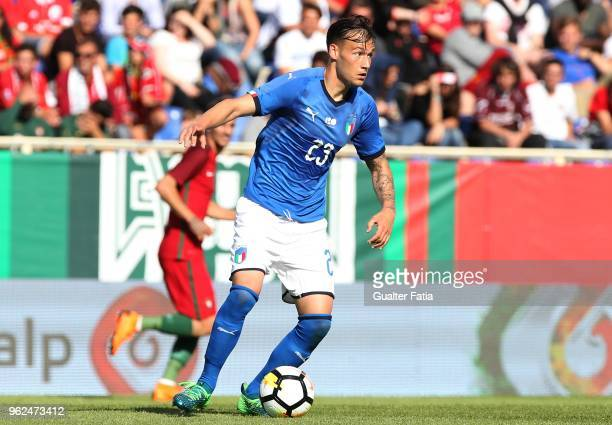 Italy and SS Lazio midfielder Alessandro Murgia in action during the U21 International Friendly match between Portugal and Italy at Estadio Antonio...