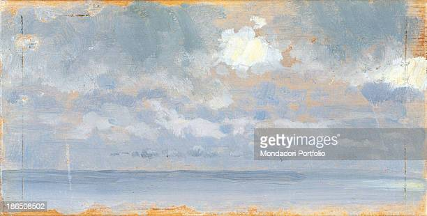 Italy Apulia Barletta Museo Pinacoteca comunale G De Nittis di Barletta Whole artwork view Study on the changing nature of the clouds and their...
