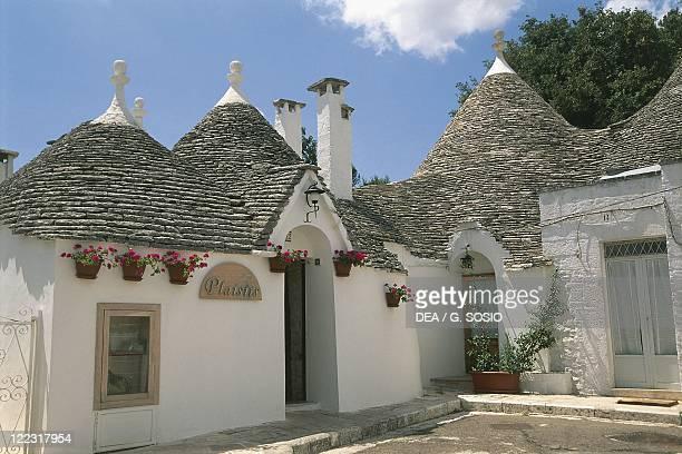 Italy Apulia Region Murge Plateau Alberobello in the province of Bari Monti Quarter Trulli