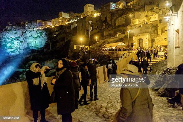 Italy Basilicata Matera Detail Dies Natalis in the Sassi of Matera is a living nativity scene that spreads over 3 chilometers transforming Matera in...