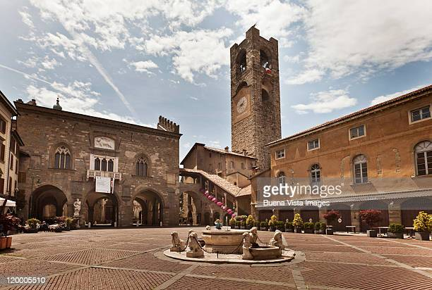 italy. bergamo. the old town. - bergamo stock pictures, royalty-free photos & images