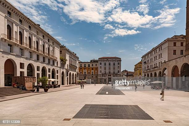 italy, brescia, view to piazza della vittoria - brescia stock pictures, royalty-free photos & images