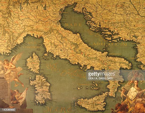 Italy by Giovanni Battista Ramusio Hall of Maps The Doge's Palace Venice Canvas 16th Century