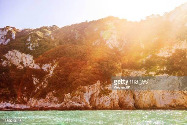 italy, campania, capri, rocky cliffs - isola di capri foto e immagini stock