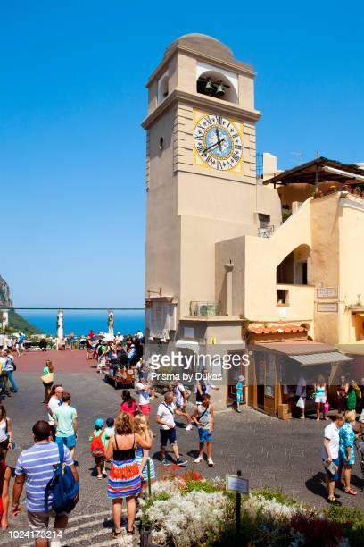 Italy Campania Island of Capri The Piazetta