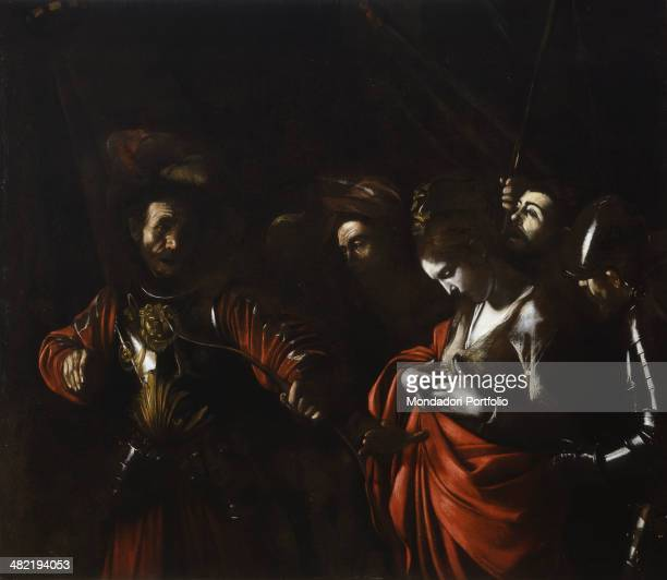 Italy Campania Naples Zevallos Stigliano Palace Whole artwork view On the right Saint Ursula stares at the wound on her chest and at the arrow just...