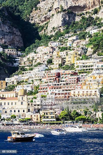 Italy, Campania, Province of Salerno, Amalfi coast, Amalfi, boats
