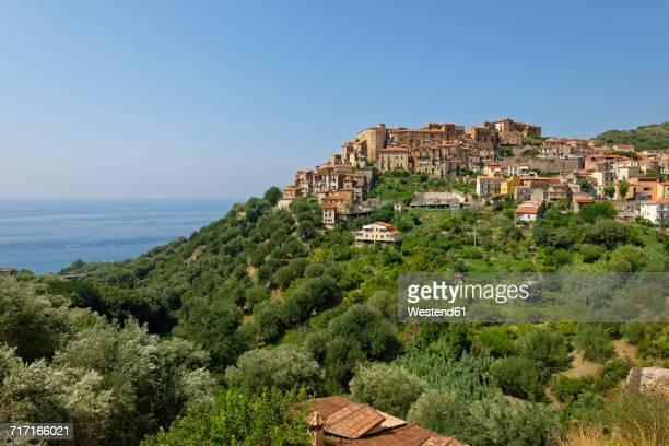 Italy, Campania, Province of Salerno, Cilento National Park, mountain village Pisciotta