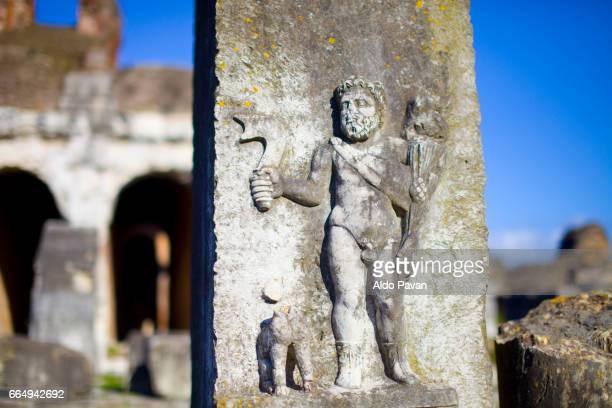 italy, campania, santa maria capua vetere, anfiteatro campano - bas relief stock pictures, royalty-free photos & images