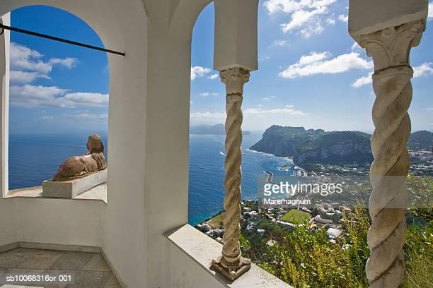 italy, capri, square umberto - isola di capri foto e immagini stock