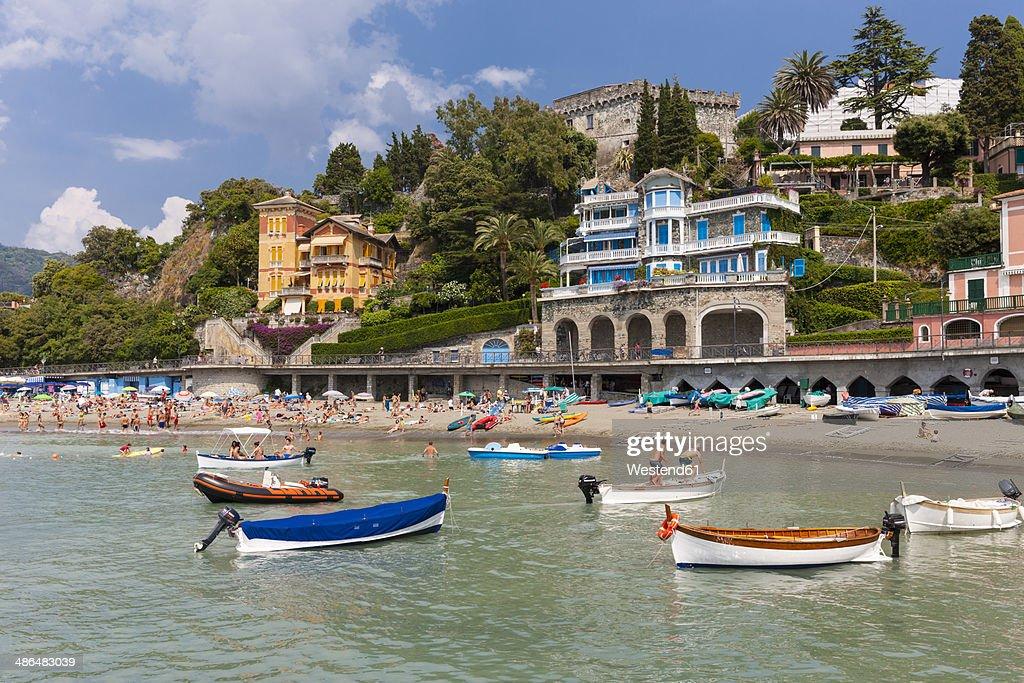 Italy, Cinque Terre, Lido of Levanto : Stock Photo