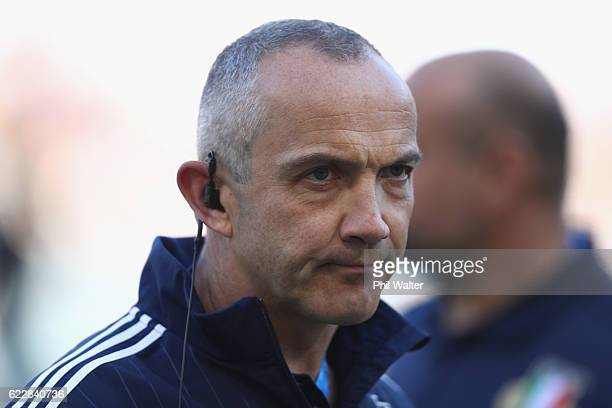 Italy coach Conor O'Shea before the international rugby match between New Zealand and Italy at Stadio Olimpico on November 12 2016 in Rome Italy