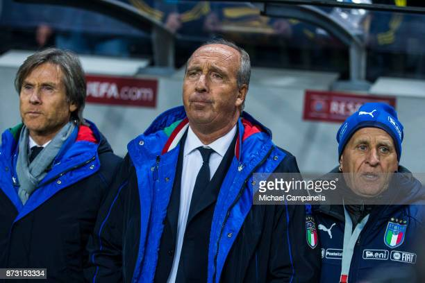 Italy coach Giampiero Ventura during the FIFA 2018 World Cup Qualifier PlayOff First Leg between Sweden and Italy at Friends arena on November 10...