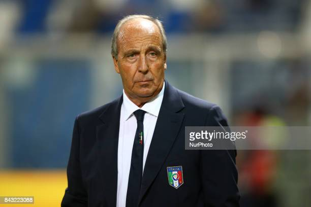 Italy coach Giampiero Ventura during the FIFA World Cup 2018 qualification football match between Italy and Israel at Mapei Stadium in Reggio Emilia...